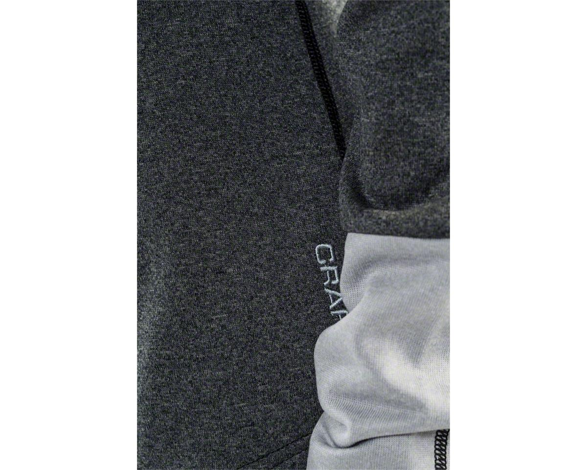 Craft Spark Women's Mid Layer Half Zip Top: Black Melange/Gray Melange LG (S)