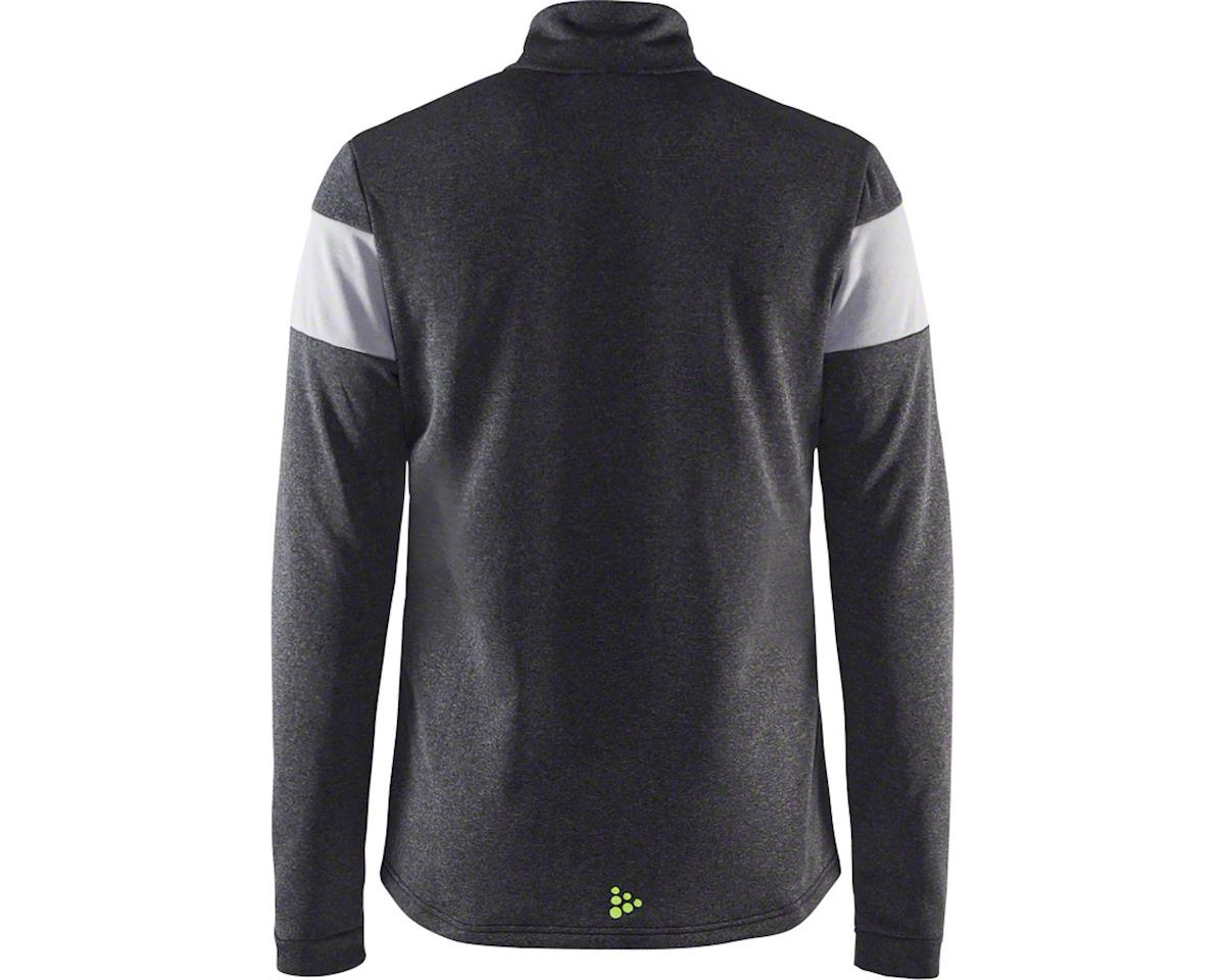 Craft Spark Men's Mid Layer Half Zip Top: Black Melange/Gray Melange XL (L)