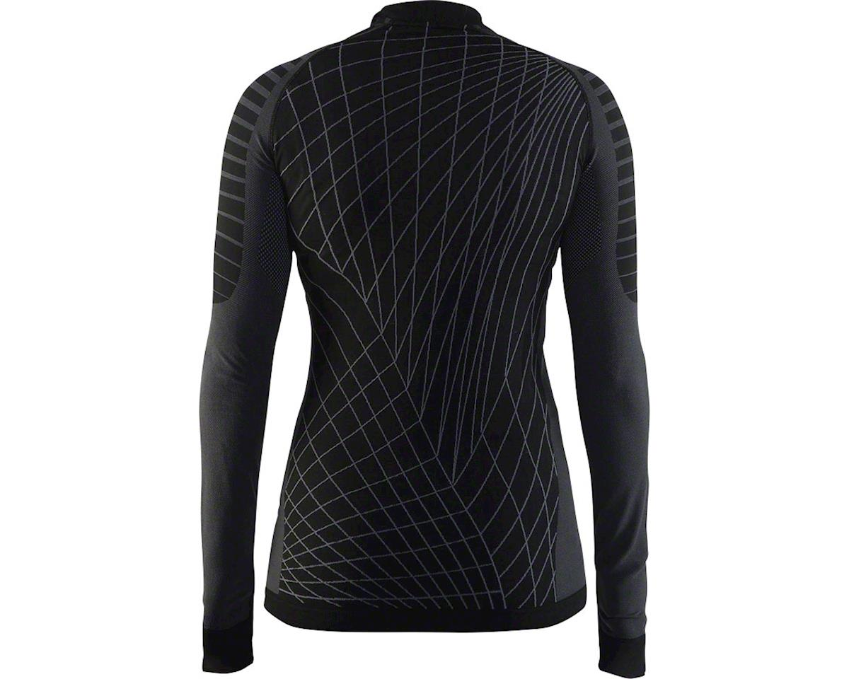 Craft Active Intensity Women's Base Layer Crew Neck Long Sleeve Top: Black/Grani (M)