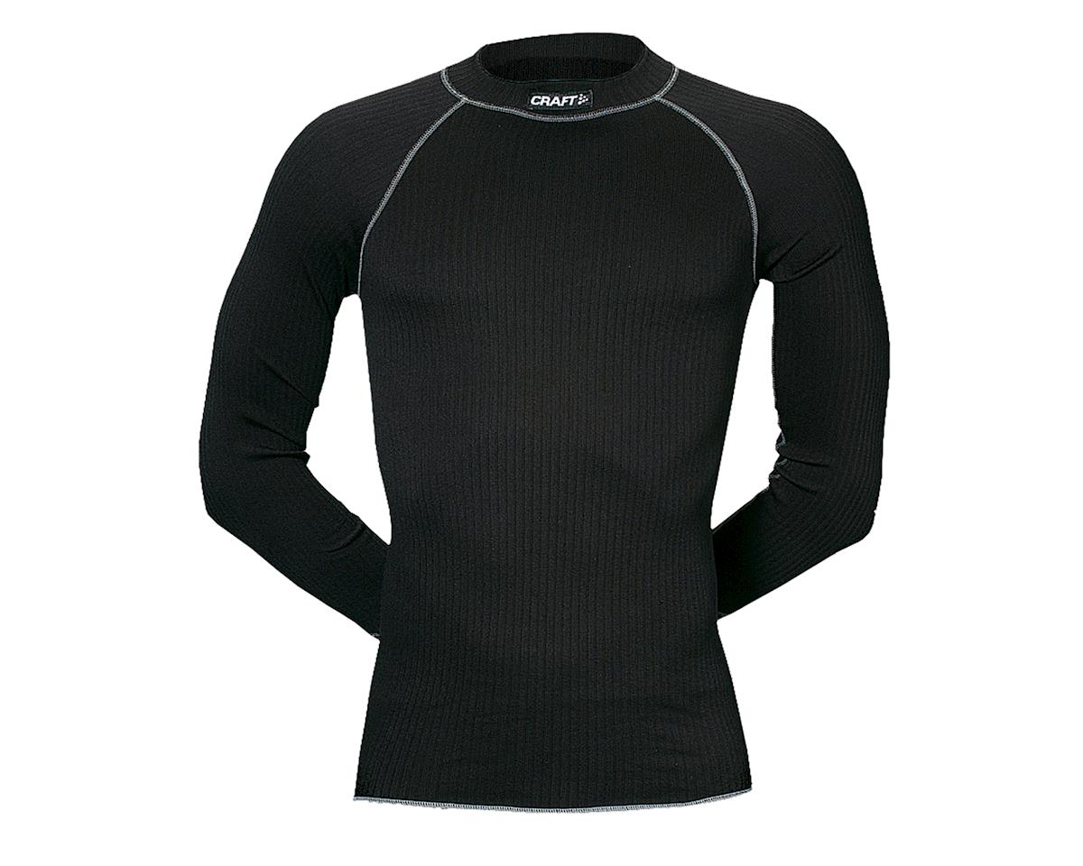 Craft Active Long Sleeve Crew Base Layer Top: Black~ Sm