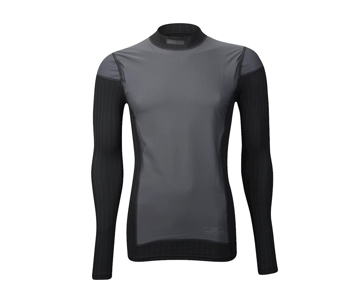 Image 2 for Craft Active Extreme 2.0 Windstopper Crew Neck Long Sleeve Baselayer (Black) (Xlarge)
