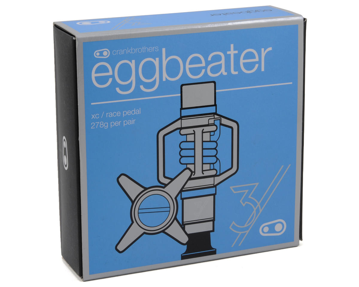 Crankbrothers Egg Beater 3 Pedals (Stainless w/Blue Springs)