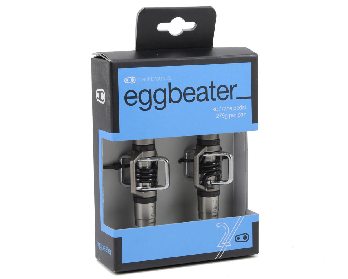 Crankbrothers Egg Beater 2 Pedals (Silver w/Black Spring)