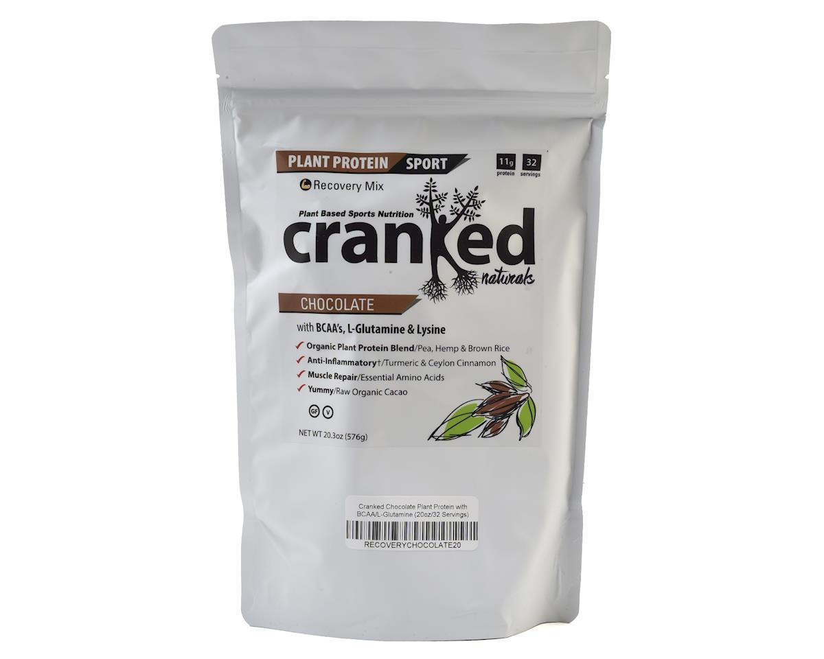 Cranked Chocolate Plant Protein w/ BCAA/L-Glutamine (20oz/32 Servings)
