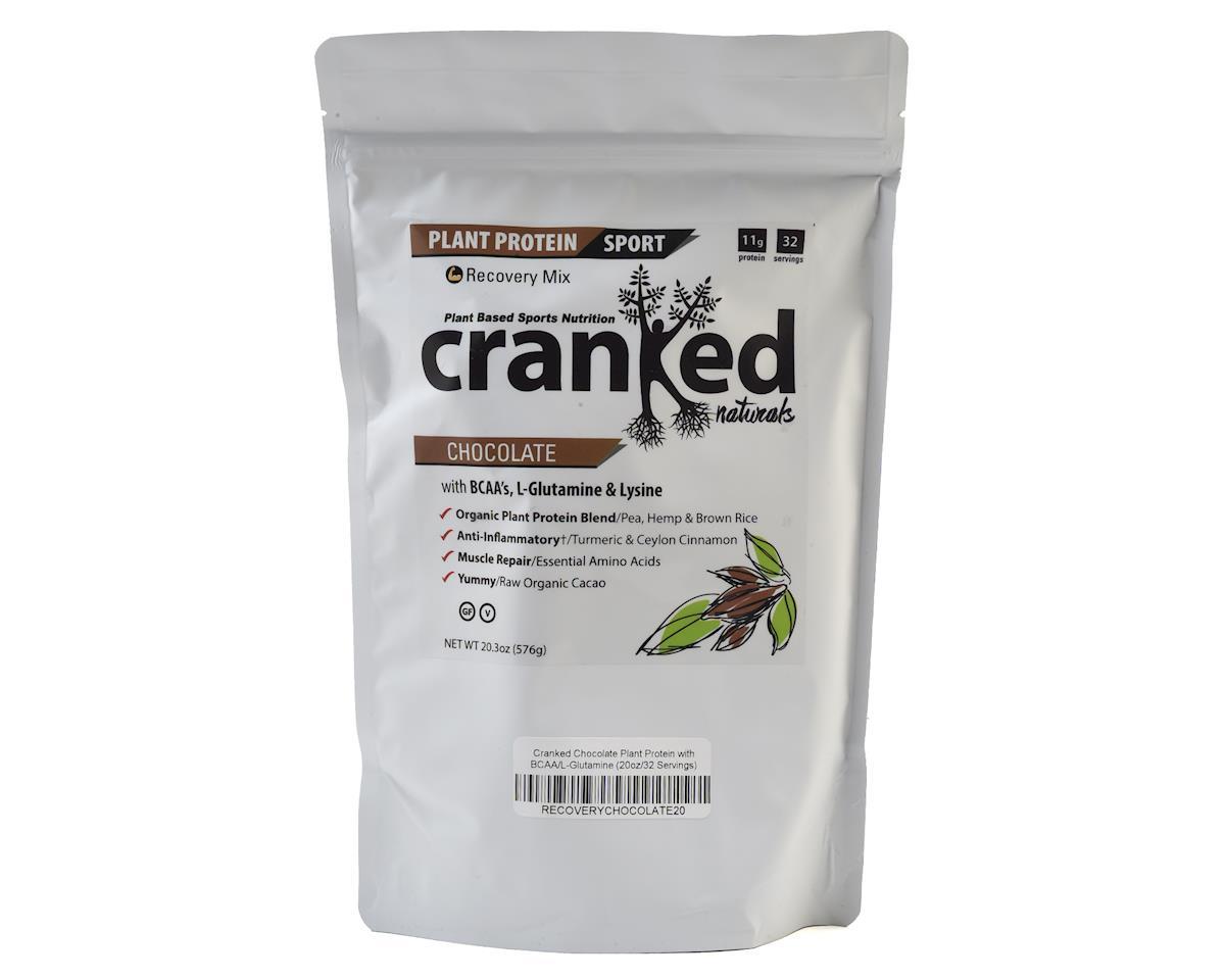 Cranked Plant Protein w/ BCAA & L-Glutamine (Chocolate) (20oz)
