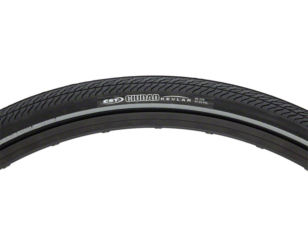 CST Ciudad Tire - 26 x 1.5, Clincher, Wire, Black, Aramid Puncture Protection