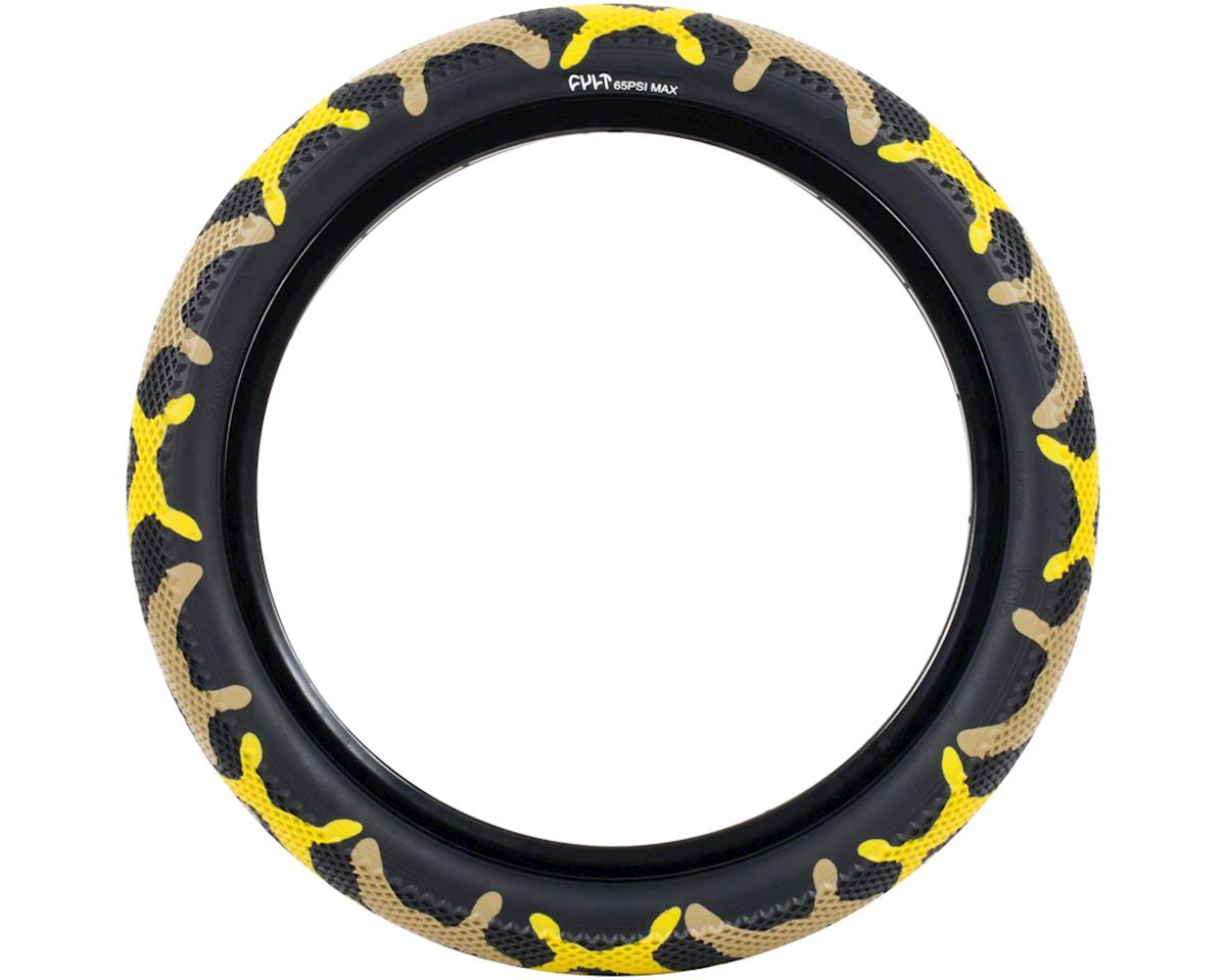 Cult Vans Tire (Yellow Camo/Black) (20 x 2.40)