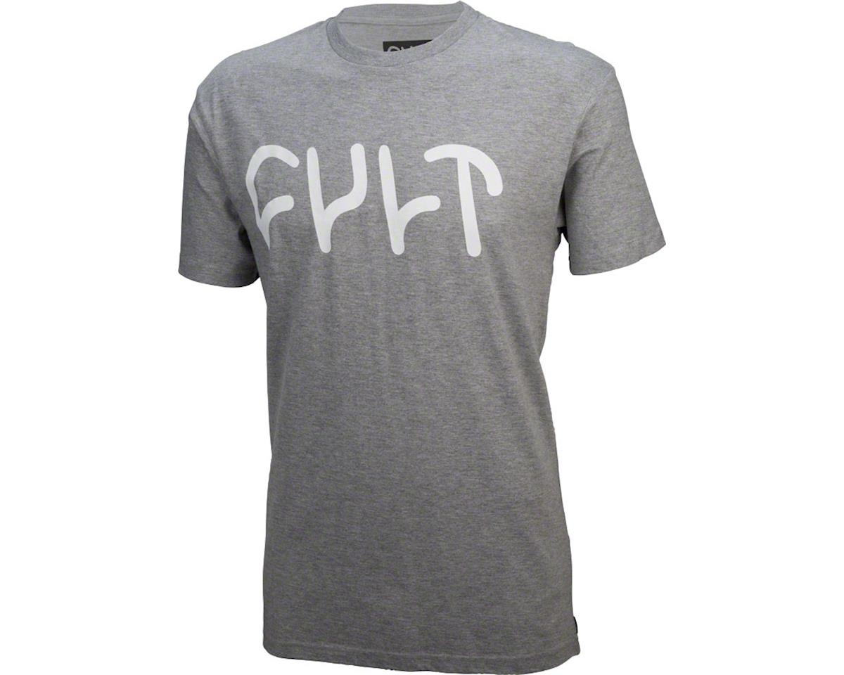 Cult Logo T-Shirt: Heather Gray, XL