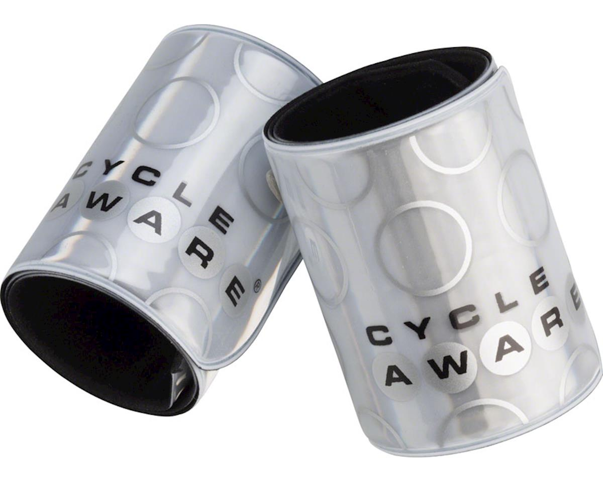Cycleaware Slap and Wrap Pant Leg Bands (Silver)