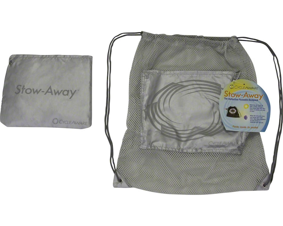 Cycleaware Stow-Away Packable Backpack (Silver)