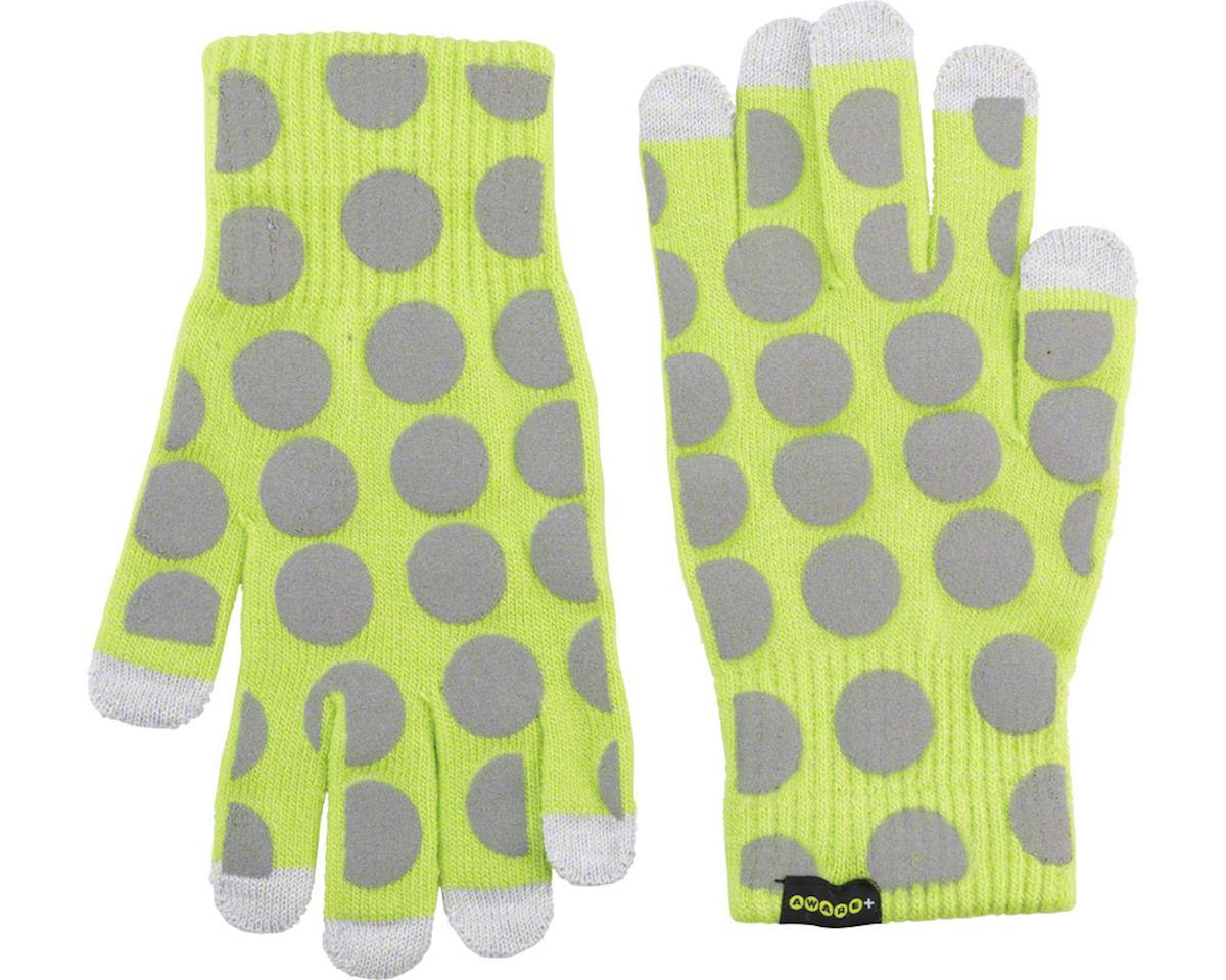 Cycleaware Reflect+ Hi-Vis Reflective Glove (Neon Green/Grey Dots) (S/M)