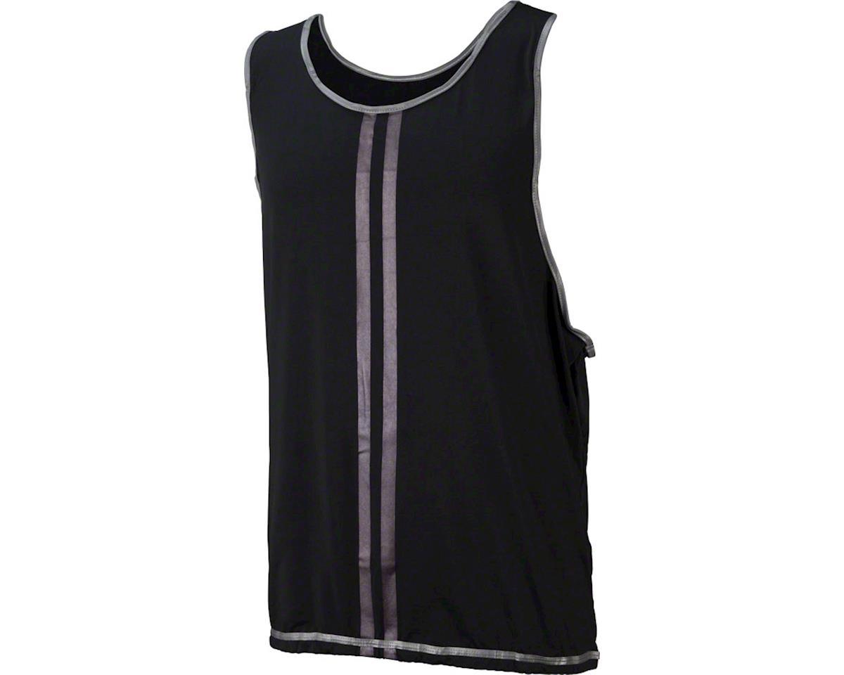 CycleAware Reflect+ Hi-Vis Reflective Unisex Vest: Black/Stripes, SM/MD