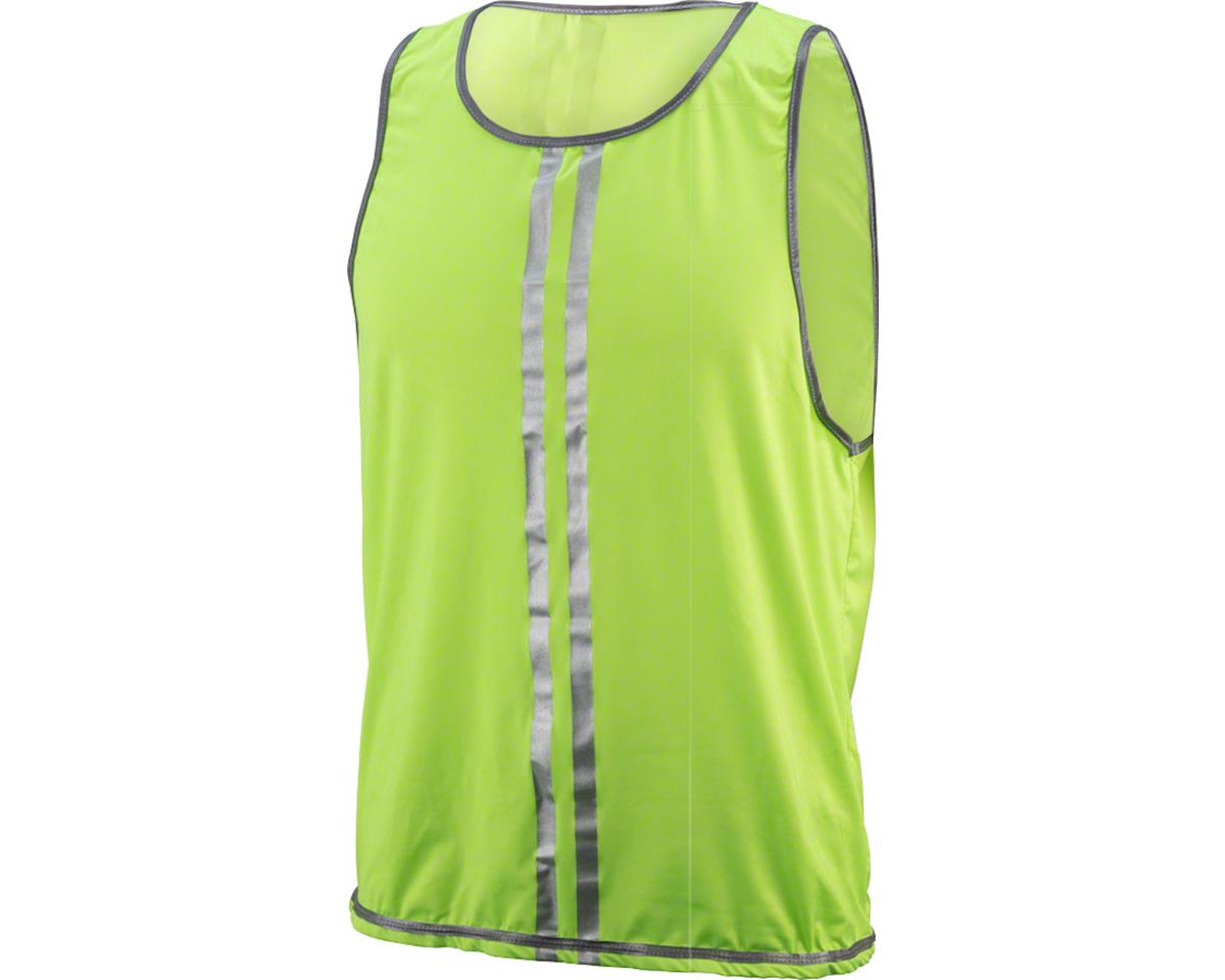CycleAware Reflect+ Hi-Vis Reflective Unisex Vest: Neon/Stripes, MD/LG