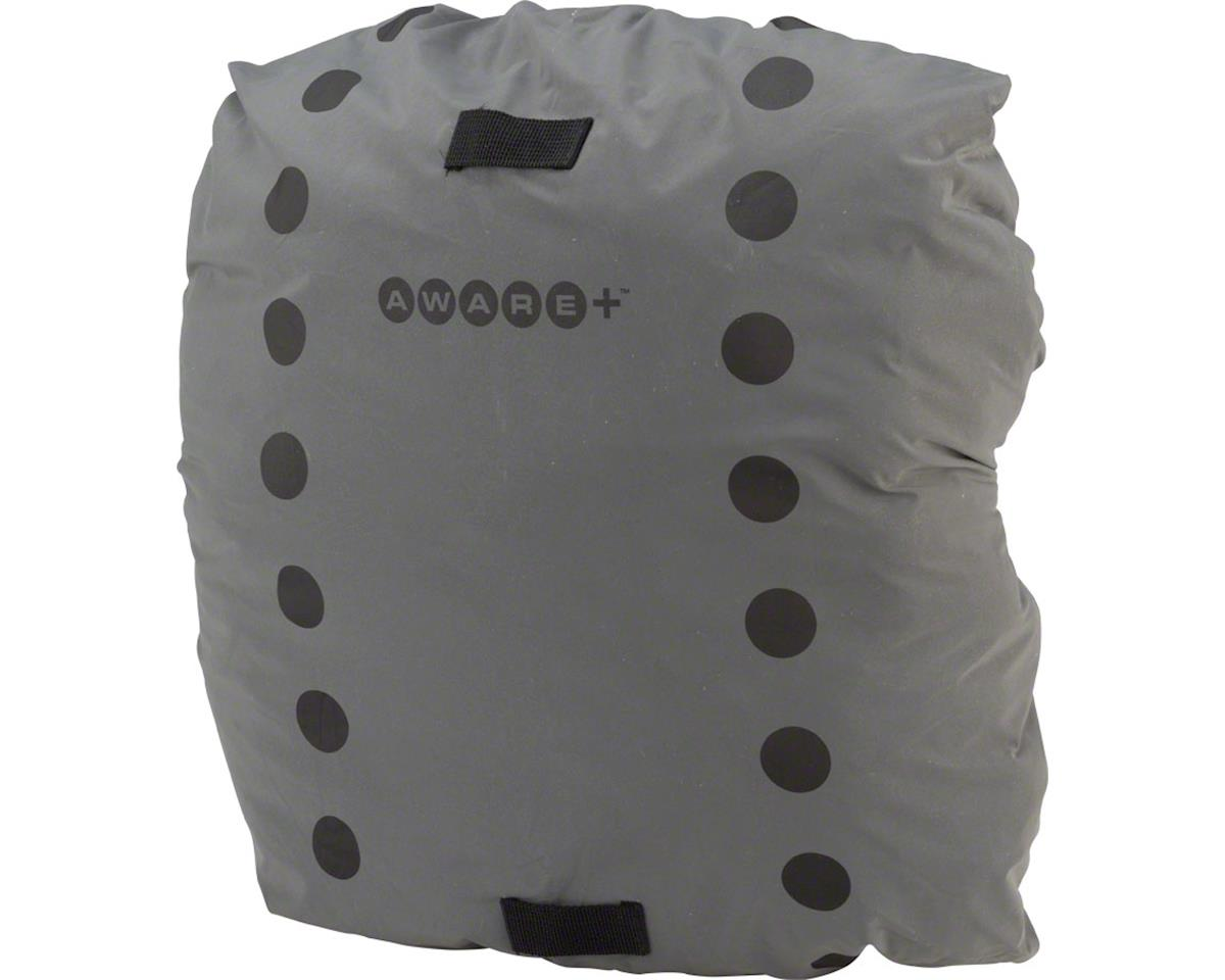 Cycleaware Reflect+ Shower Cap Reflective & Waterproof Backpack Cover (Gray)