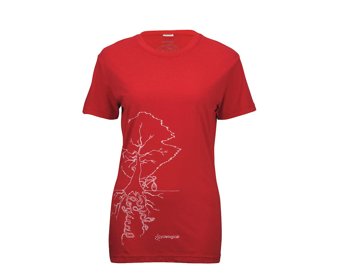 Cyclelogical Women's Tree Roots T-Shirt (Red)