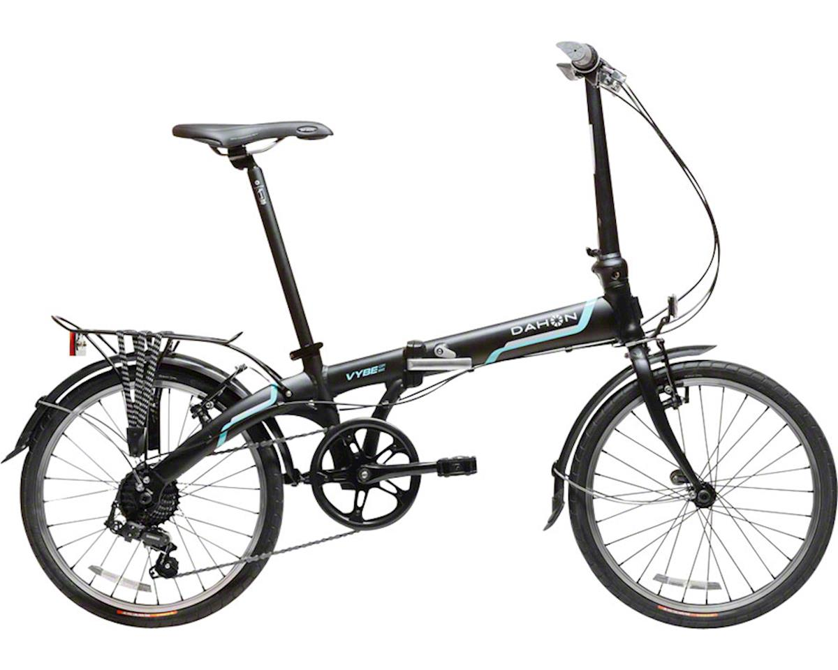 "Dahon Vybe D7 20"" Folding Bike with Rack and Fenders, Obsidian Matte"