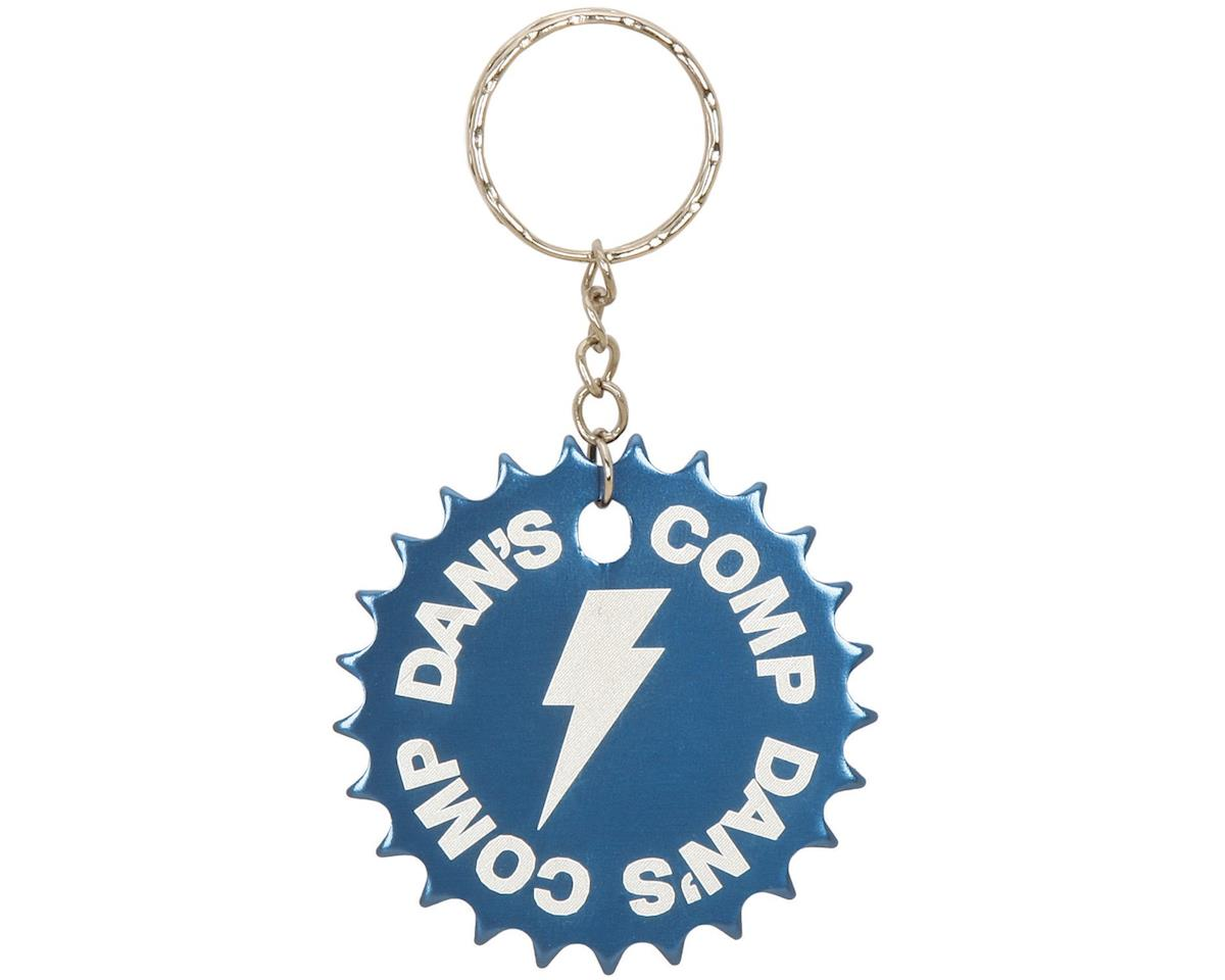 Dan's Comp Dans Comp 25T Sprocket Keychain (Blue) (One Size Fits Most)
