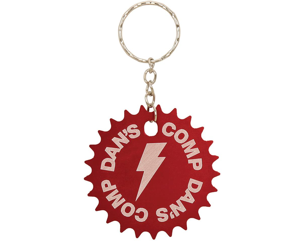 Dan's Comp Dans Comp 25T Sprocket Keychain (Red) (One Size Fits Most)