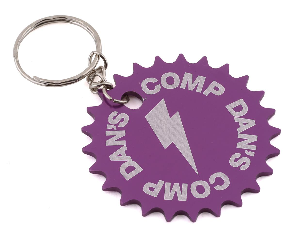 Dan's Comp Dans Comp 25T Sprocket Keychain (Purple) (One Size Fits Most)
