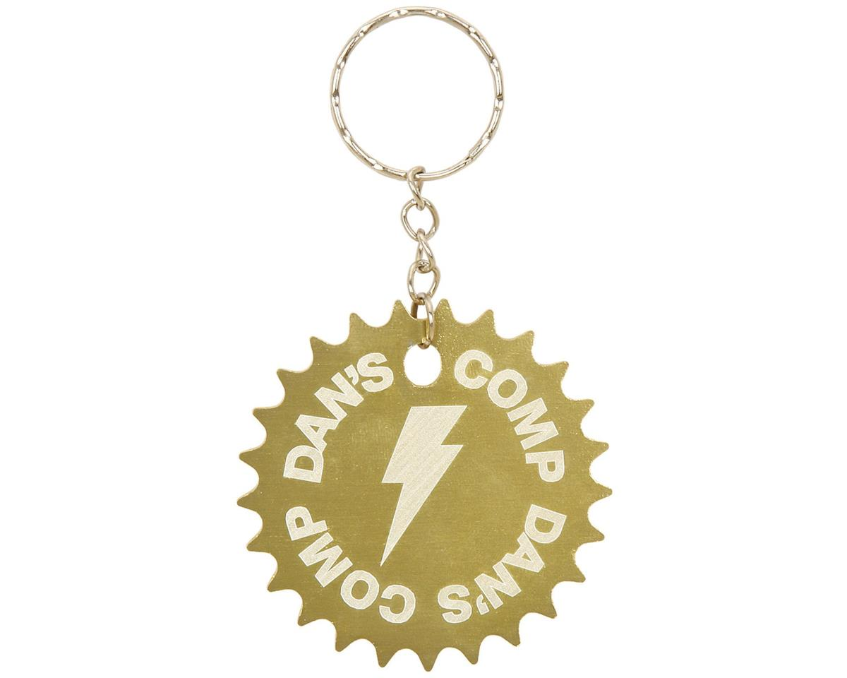 Dan's Comp Dans Comp 25T Sprocket Keychain (Gold) (One Size Fits Most)