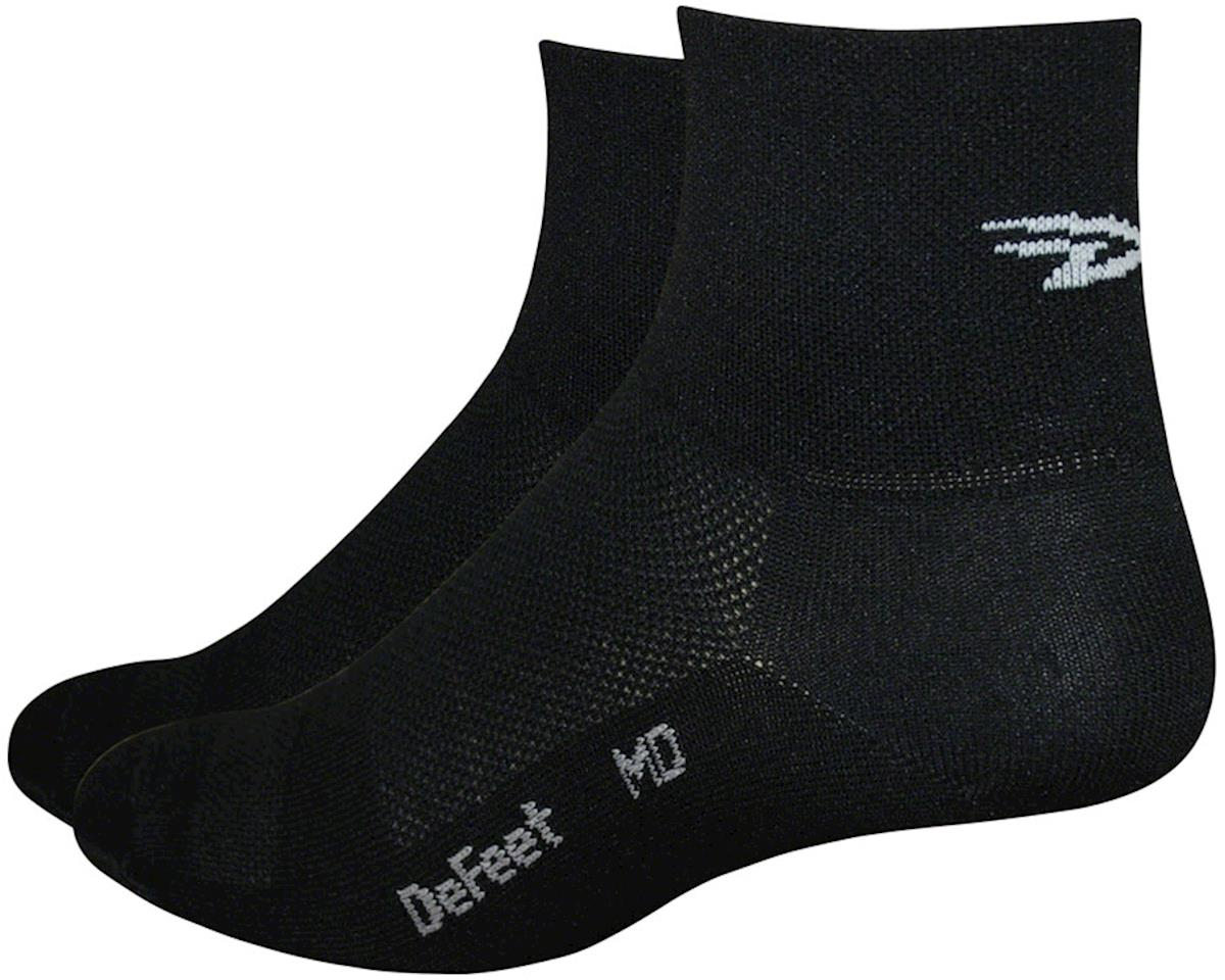 "DeFeet Aireator 1"" Cuff Sock (Black/White) (L)"
