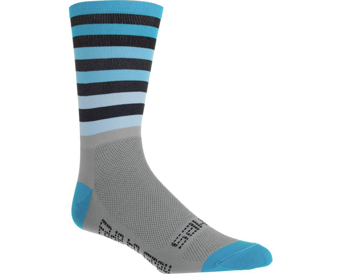 "DeFeet Sako7 Fade To Grey-Blue Aireator 6"" Socks (Fade To Grey/Blue)"