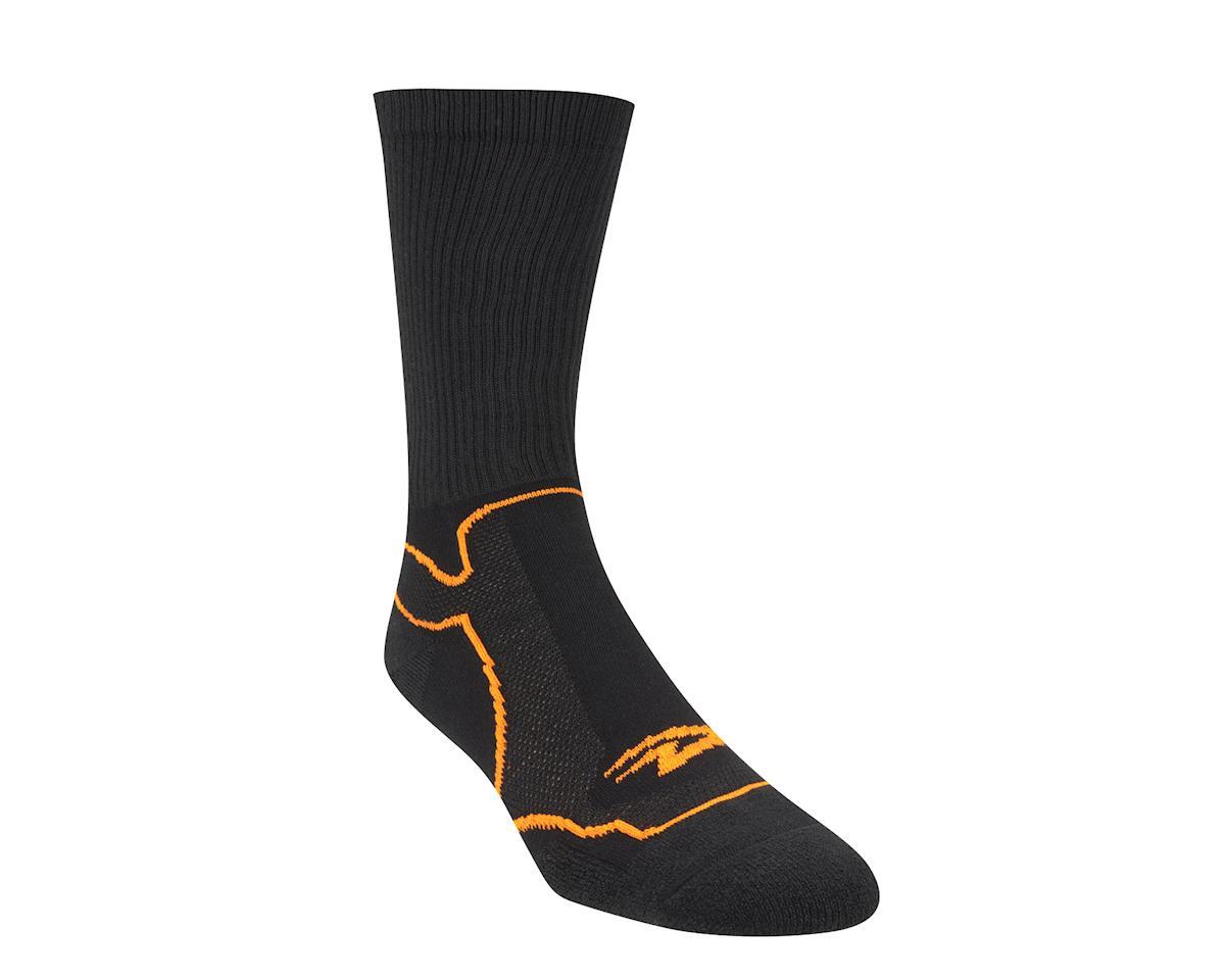 "Image 3 for DeFeet Levitator Trail 6"" Socks (Black/Hi-Vis Orange)"