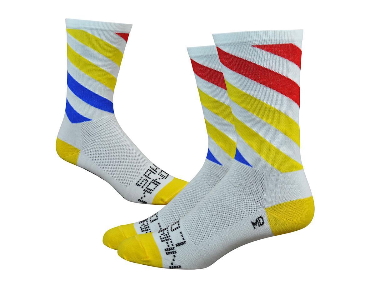 DeFeet Sako7 Mondrian Socks (White/Yellow/Red)