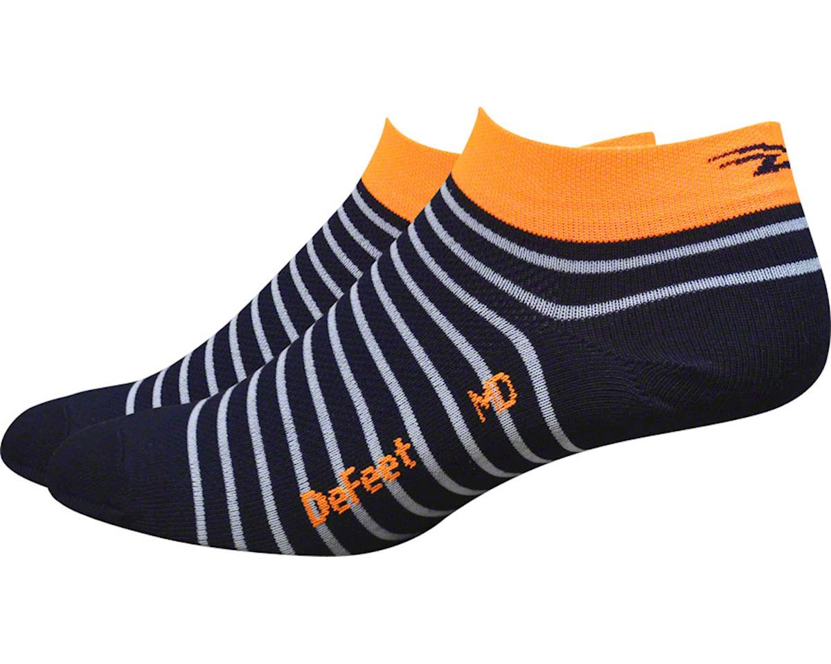 DeFeet Aireator Sailor Women's Sock (Navy/White/Hi-Vis Orange)