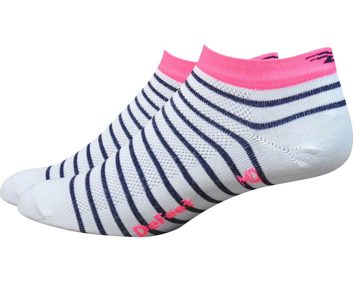 DeFeet Aireator Sailor Women's Sock (White/Navy/Flamingo Pink)