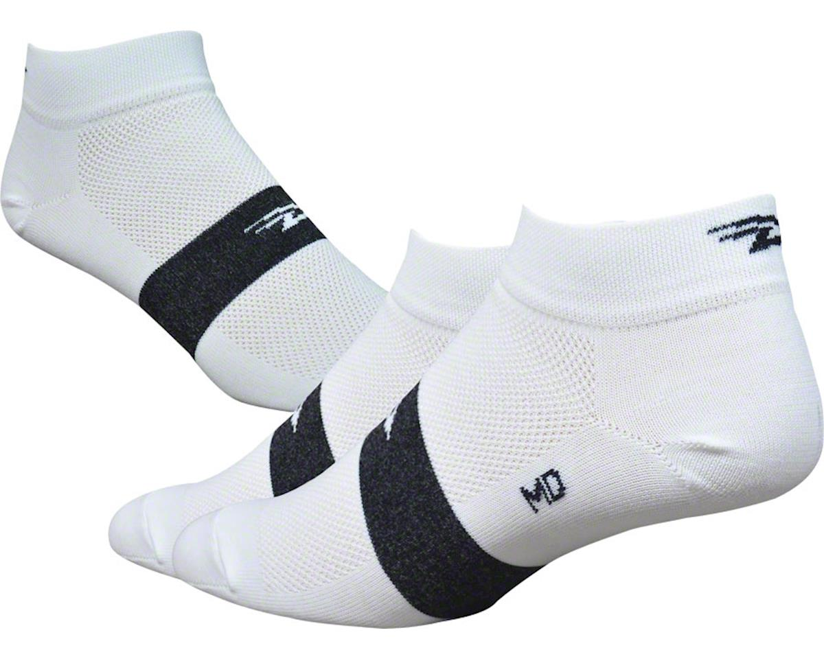 """DeFeet Aireator 4"""" Spotty Sock (White) (S)"""