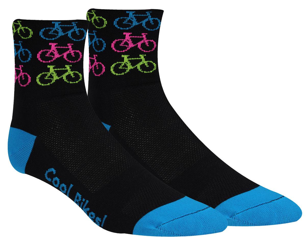"DeFeet Aireator 3"" D-Logo Socks (Cool Bikes-Pink) (L)"