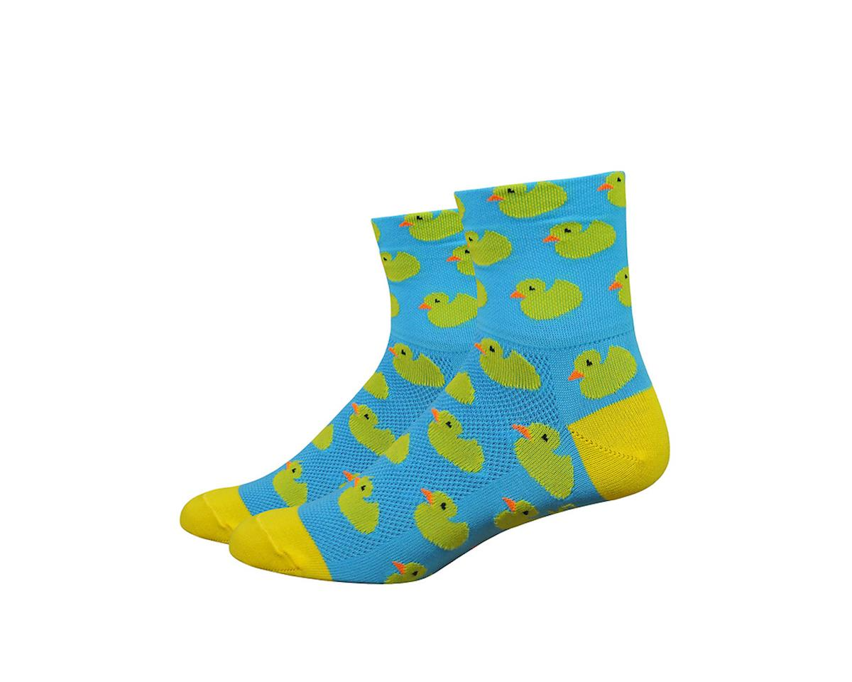 """DeFeet Aireator 3"""" Rubber Ducky Socks (Blue/Yellow)"""