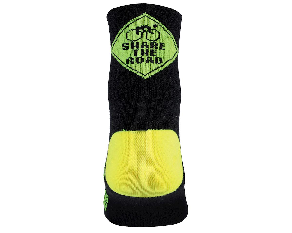 Image 2 for DeFeet Share the Road AirEator Socks (Black/Neon Green) (S)