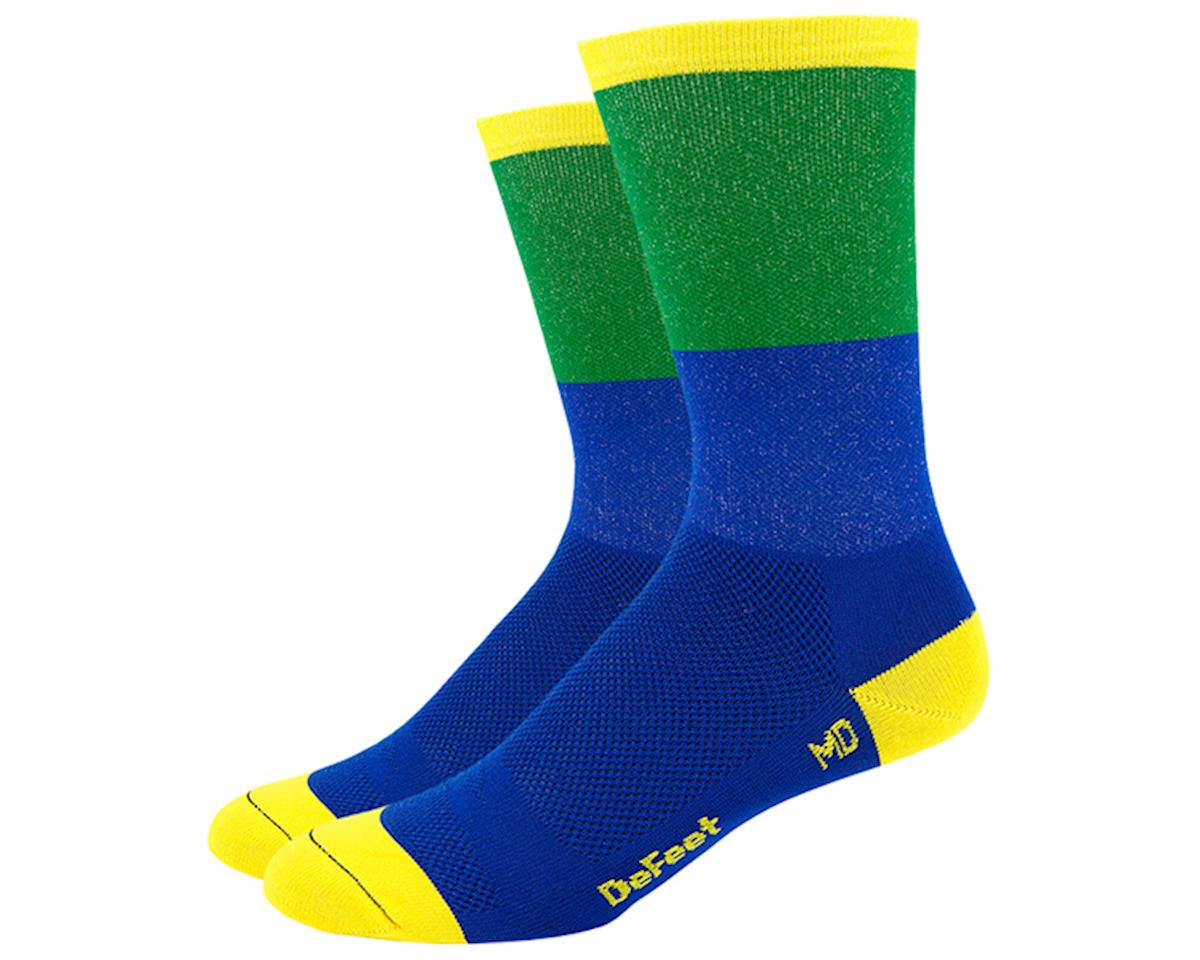"DeFeet Aireator 6"" Socks (Blue/Green) (L)"