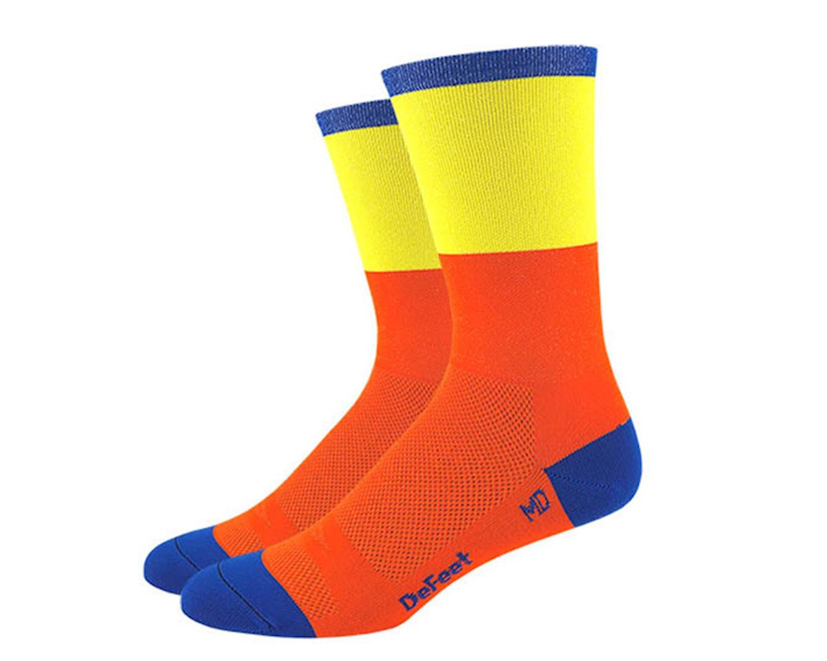 "DeFeet Aireator 6"" Socks (Orange/Yellow) (XL)"