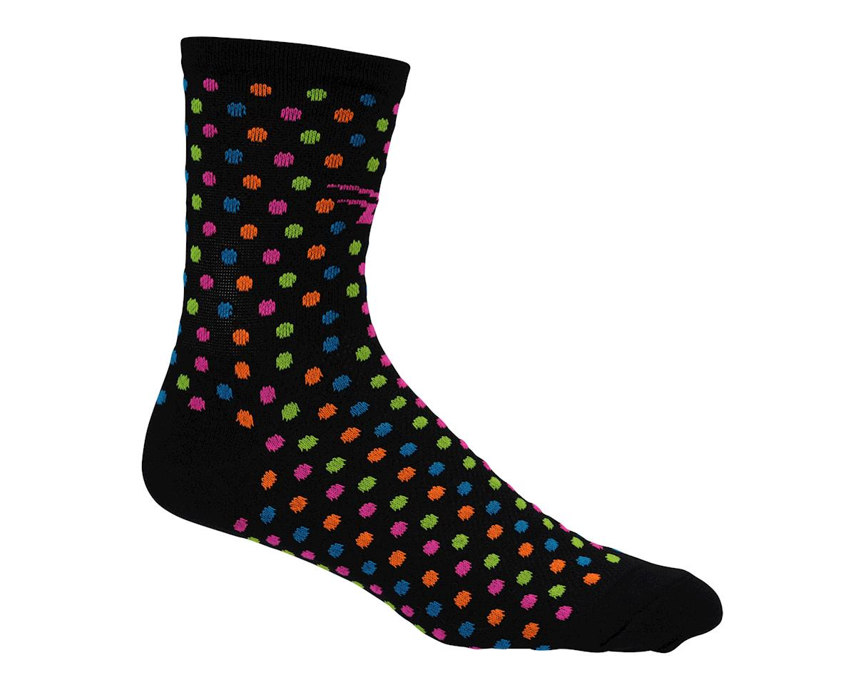 "DeFeet Aireator 4"" Spotty Sock (Black) (S)"
