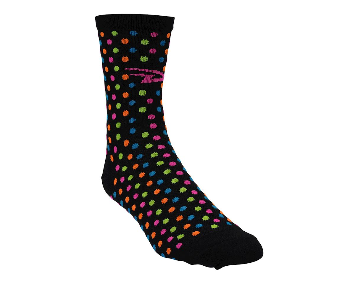 """Image 2 for DeFeet Aireator 4"""" Spotty Sock (Black) (S)"""