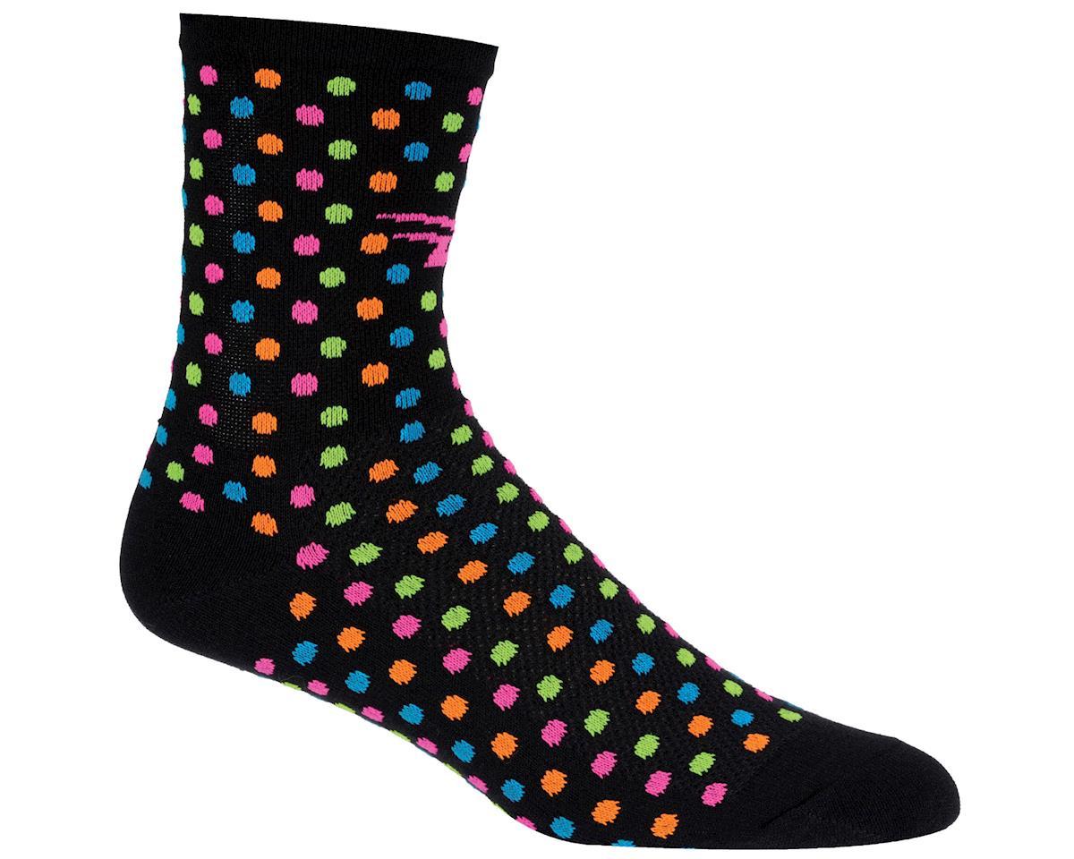 "DeFeet Aireator 4"" Spotty Sock (Black) (XL)"