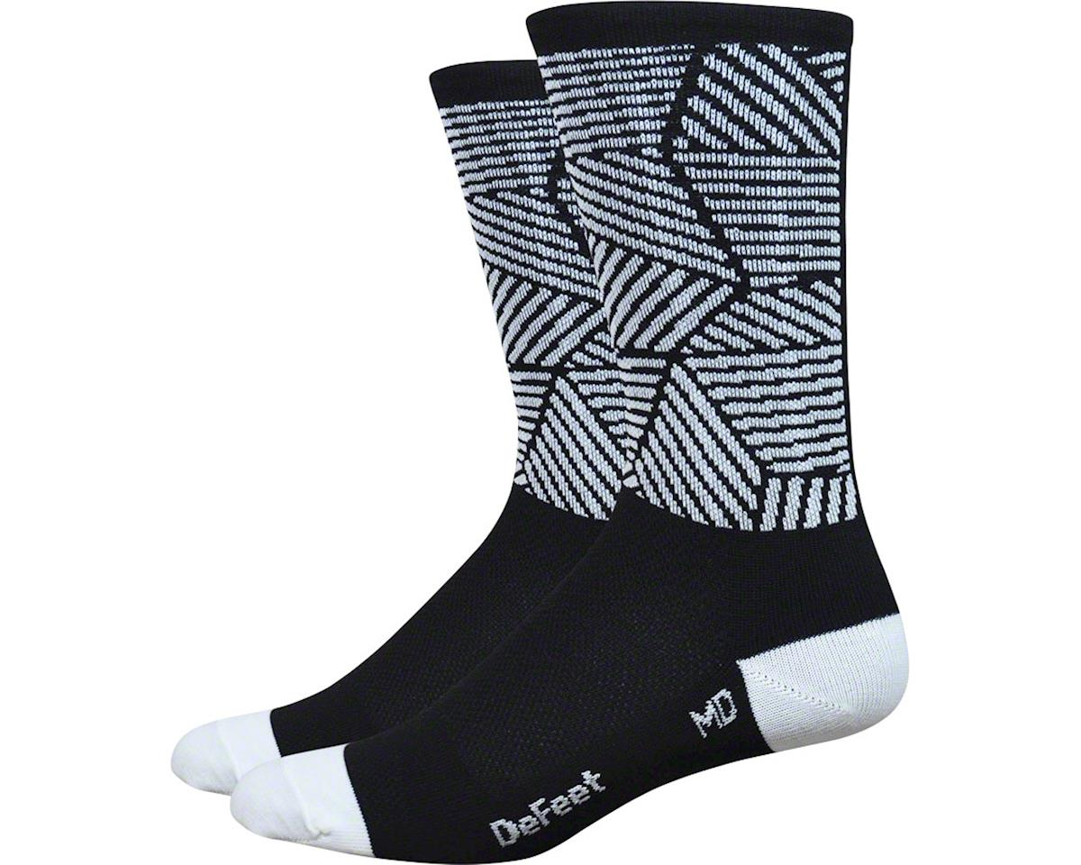 "DeFeet Aireator 6"" Craze Sock (Black/White) (S)"
