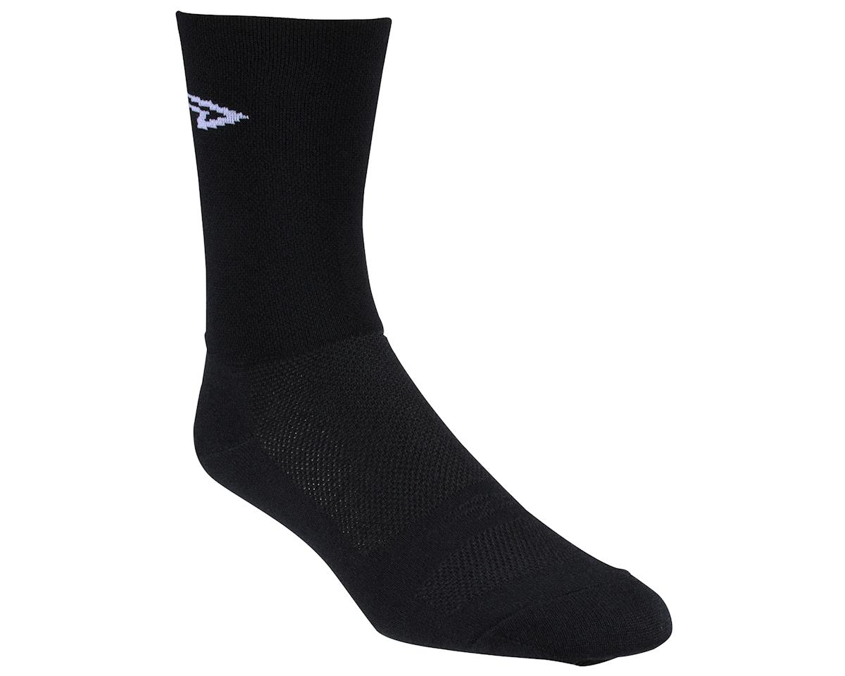 """Image 2 for DeFeet Aireator 5"""" Double Cuff Sock (Black) (S)"""