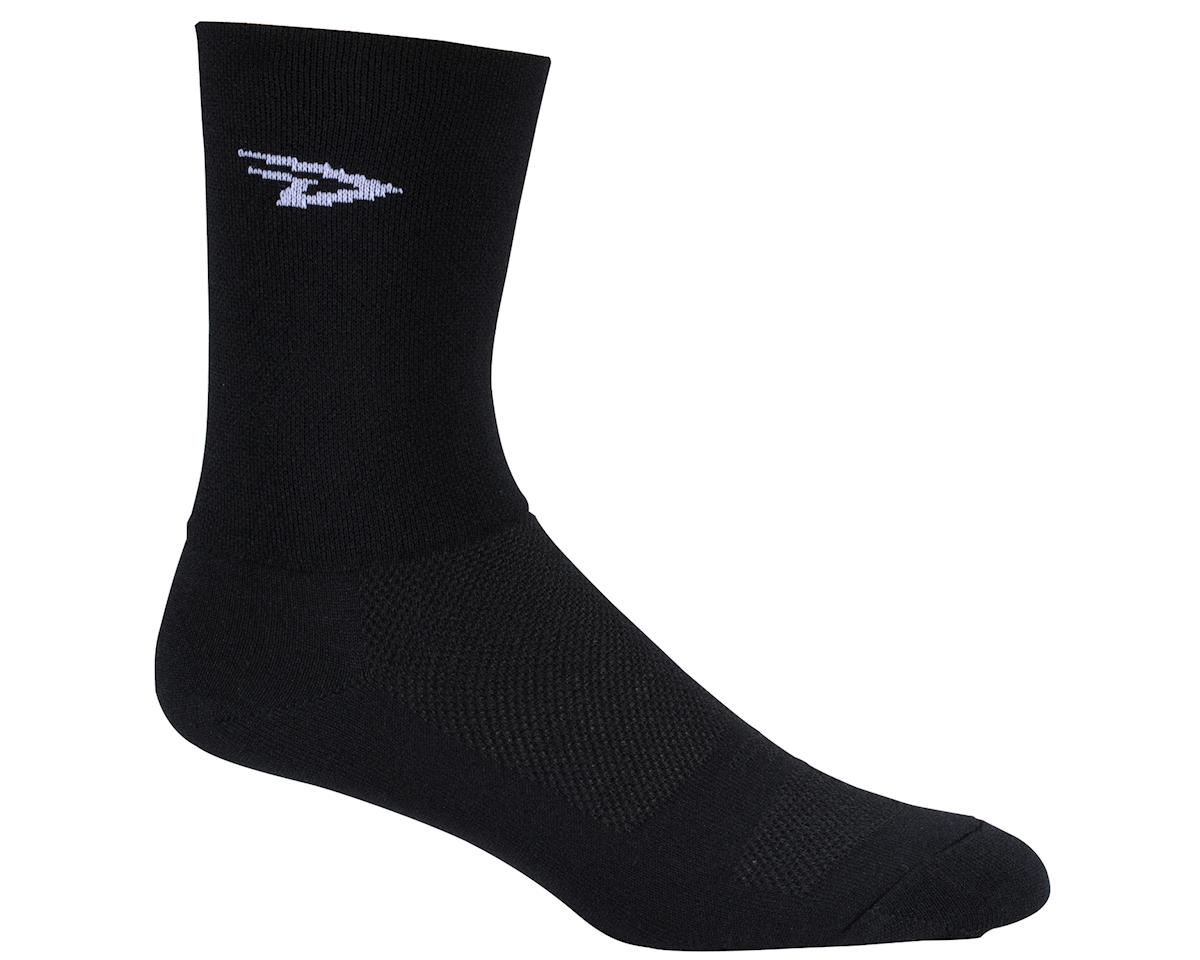 "DeFeet Aireator 5"" Double Cuff Sock (Black) (XL)"