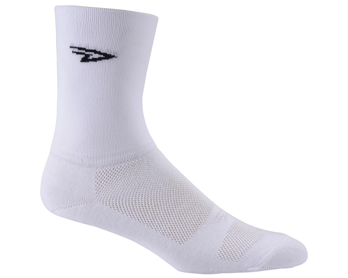"DeFeet Aireator 5"" Double Cuff Sock (White) (L)"