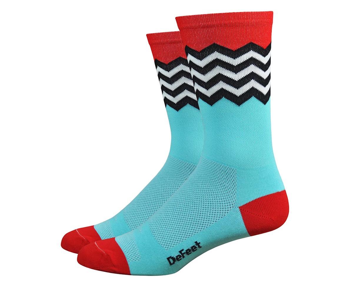 "DeFeet Aireator 6"" Socks (Blue/Red/Black/White) (L)"