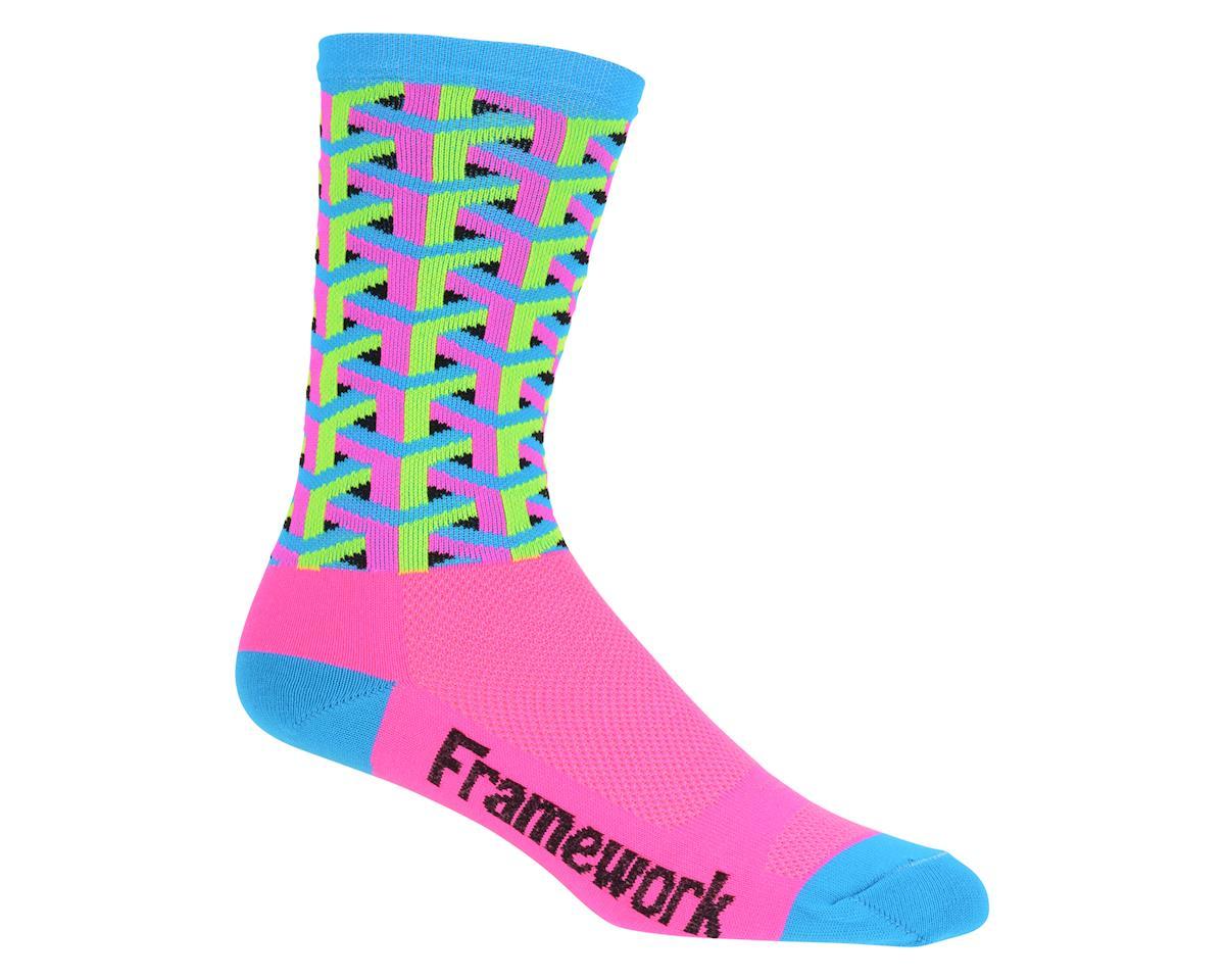 """DeFeet Aireator 6"""" Framework Sock (Pink) (XL)"""
