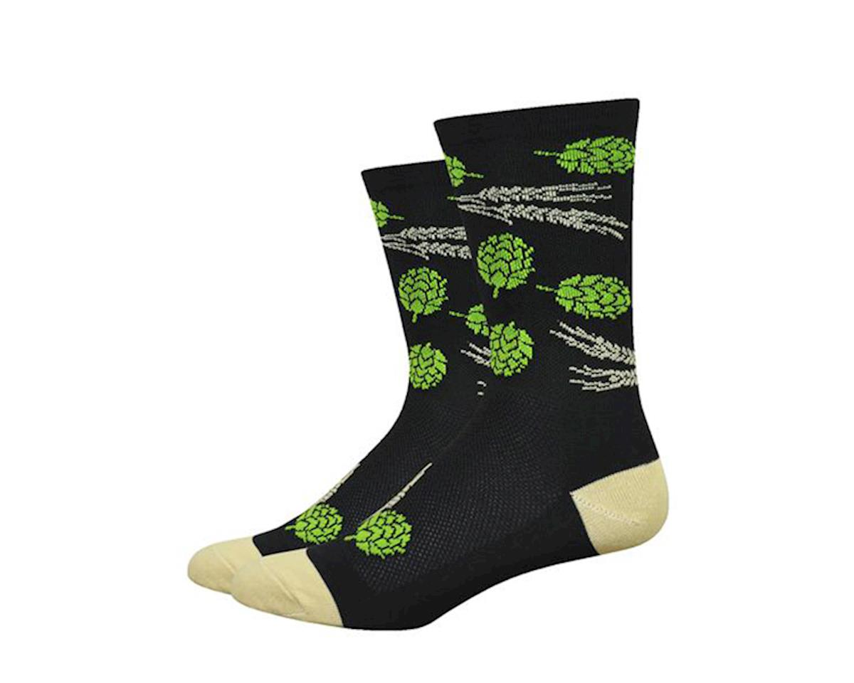 "DeFeet Aireator 6"" Hops & Barley Socks (Black) (L)"