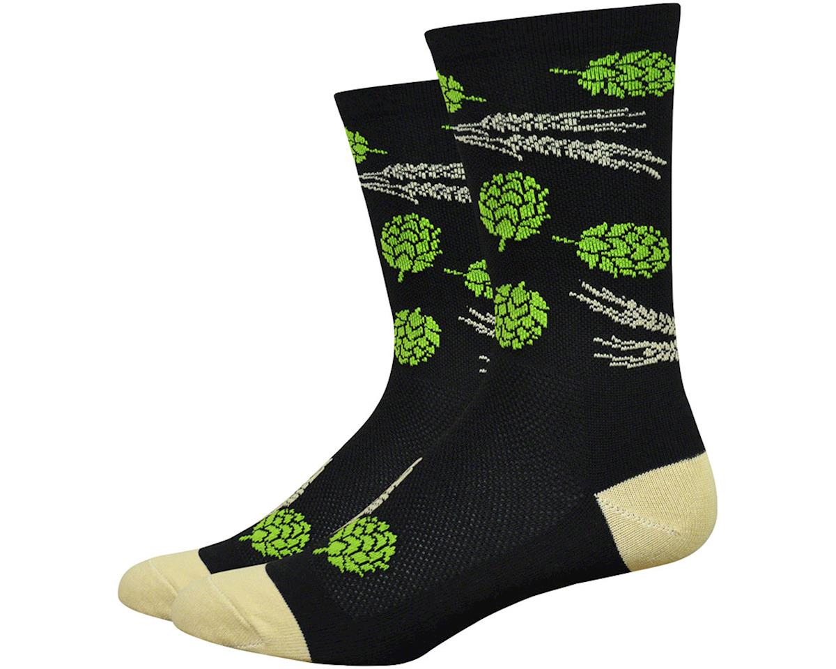 "DeFeet Aireator 6"" Hops & Barley Socks (Black) (XL)"