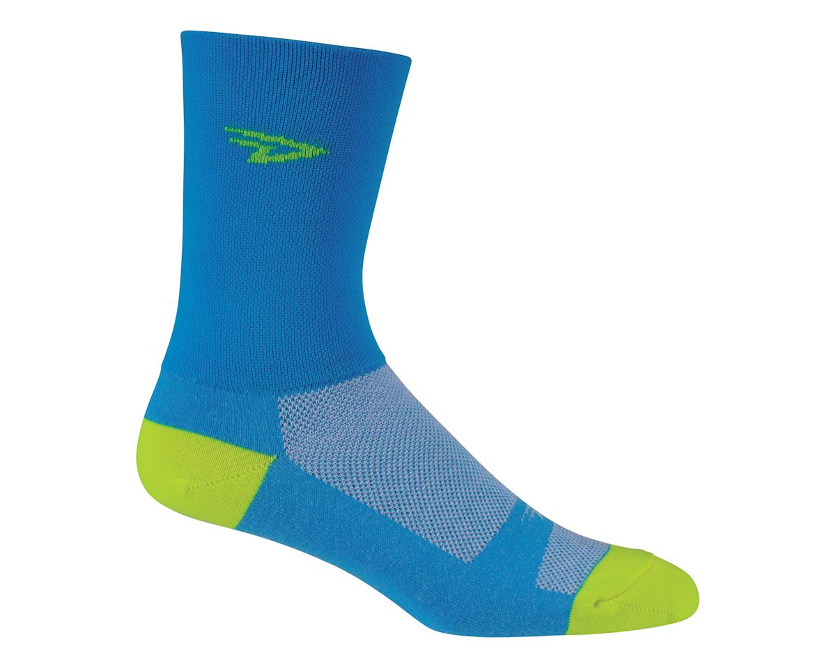 DeFeet Aireator Hi Top Sock (Blue/Yellow) (L)