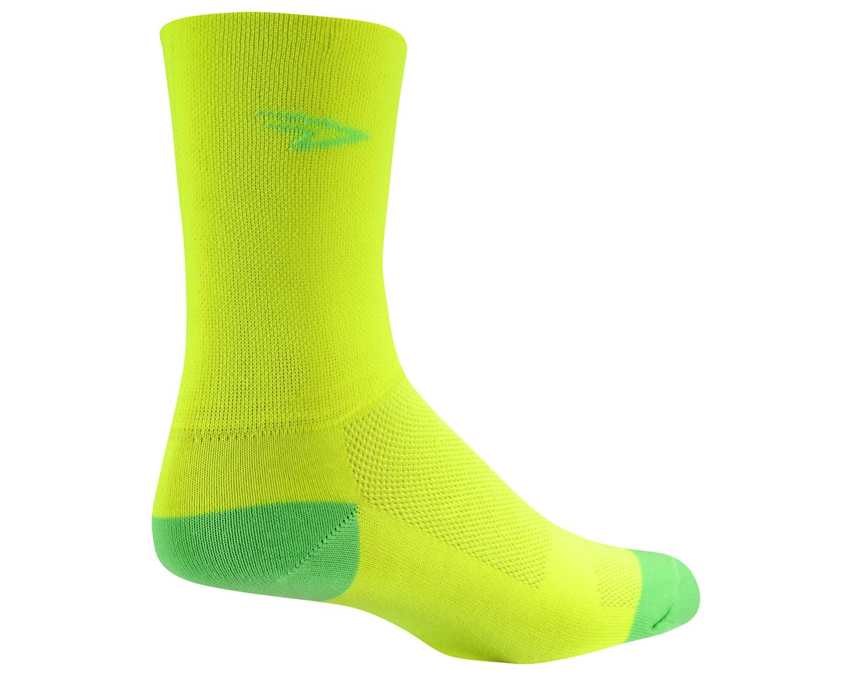 Image 3 for DeFeet Aireator Hi Top Sock (Yellow/Green) (M)