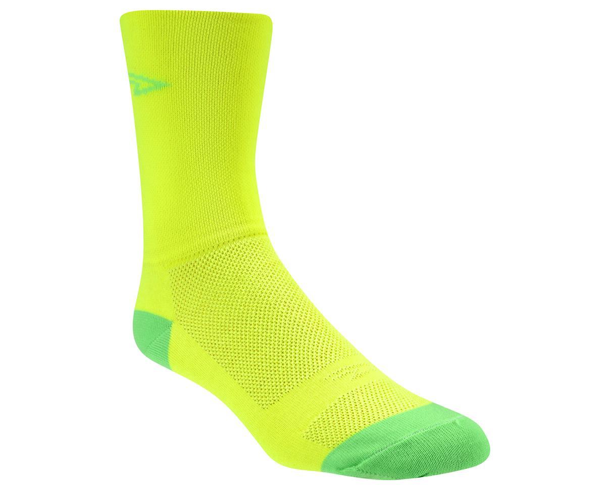 DeFeet Aireator Hi Top Sock (Yellow/Green) (L)